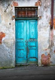 old blue wooden door wallpaper mural