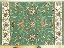 porto green textured persian rug