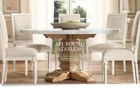 round kitchen table restoration hardware best kitchen ideas dining tables