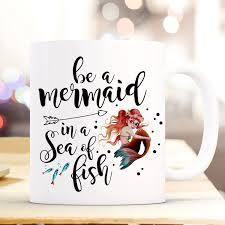 Tasse Becher Kaffeetasse Mit Meerjungfrau Spruch Be A Mermaid