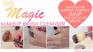 how to clean makeup brushes with coconut oil. magic makeup brush cleanser, cleaning techniques, hot to clean brushes, how brushes with coconut oil o