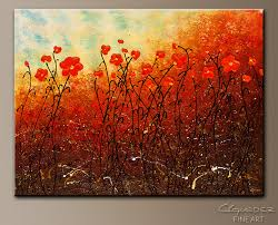 blooming flowers abstract art painting image by carmen guedez