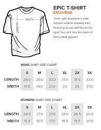 Loot Wear Size Chart