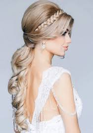 Wedding Hairstyles Down Straight With Headband Fashdea