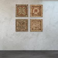 reward carved wooden wall plaques titan lighting 16 in x wood art set