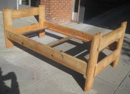 image of diy wood twin bed frame