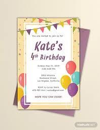 Invitation Templates Birthday 63 Free Birthday Invitation Templates Download Ready Made