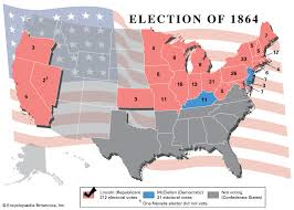 Lincoln Presidency Chart United States Presidential Election Of 1864 United States