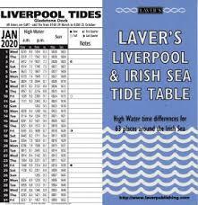 Liverpool Irish Sea 2020 Tide Table Calendar Laver