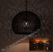 Arabische Hanglamp Zwartkoper