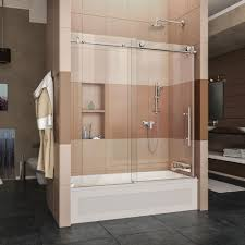 bathtub with door building dreamline enigma x 56 in to 59 62 frameless sliding tub brushed