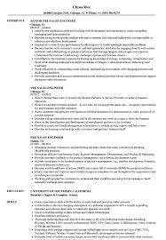 Pre Sales Engineer Resume Samples Velvet Jobs