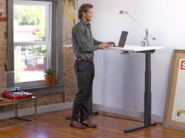 placing an anti fatigue standing desk pad or better yet a standing board under your desk you will take your already healthy standing desk and make it even