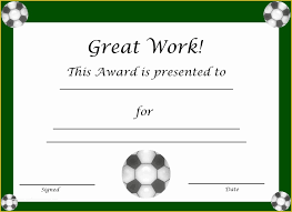Soccer Award Certificate Templates Free Of Most Improved
