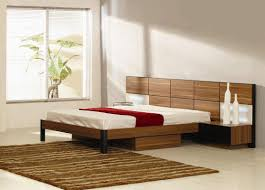 contemporary platform bed with storage drawers — interior exterior
