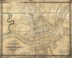 Small Picture Old Map of Cincinnati Historic 1838 Cincinnati Ohio Street Map