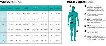 Wetsuit Chart Wetsuit Sizing Find The Proper Fit For Your Ride Engine