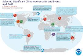 Climate Change Temperature Chart Global Climate Report April 2019 State Of The Climate