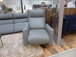 natuzzi editions sofia twin motor leather recliner swivel chair