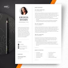 Project Manager Resume Template Cv Template With Photo Curriculum Vitae Instant Download Word Cv Design