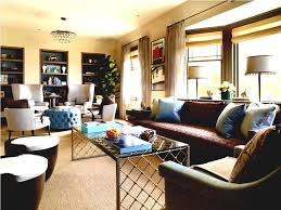 round living room furniture. Teal Tufted Round Ottoman For Traditional Living Room Furniture Arrangement Ideas With Brown Sofa