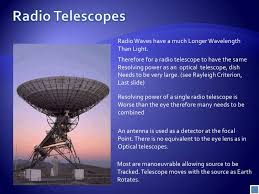 a radio telescope and an optical telescope of the same size have the same angular resolution non optical telescopes presentation