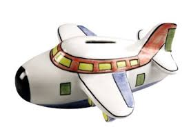 amazoncom ceramic airplane coin piggy bank toys  games