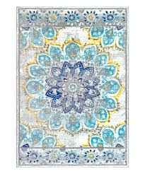 nuloom blue distressed fl kiyoko rug