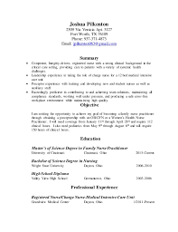 Ob Nurse Resume Nursing Resume For Graduate School
