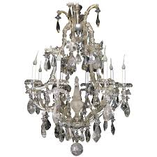antique french baguès style rock crystal and crystal chandelier for