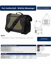 Port Authority Color Chart Details About Port Authority Midcity Messenger Shoulder Strap Bag Light Blue Black
