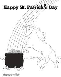 St Patricks Day Coloring Unicorn St Patricks Day Coloring Page Favecrafts Com