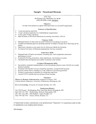 How To Create A Functional Resume Resume For Your Job Application