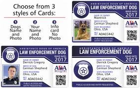 Id Service Dog Gallery Card Registry