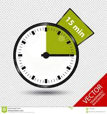 Start 15 Minute Timer Timer 15 Minutes Vector Illustration Isolated On