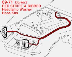 1970 1971 corvette headlamp washer hose set 1970 Corvette Vacuum Diagram 1970 Corvette Vacuum Diagram #91 1970 corvette vacuum diagram