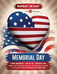 Memorial Day Free Party Psd Flyer Template Freebie