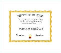 Employee Of The Year Certificate Template Free Employee Of The Month Certificate Template Free Employee Of