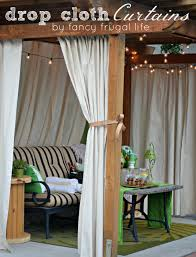garden accessories diy cabana patio makeover with diy drop cloth from outdoor curtains rod decor
