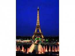 Puzzle Svítící Neonová Eiffelova Věž Paříž 1000 Dílků