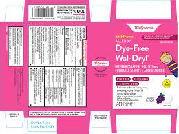 Children S Chewable Benadryl Dosage Chart Walgreens 44 480