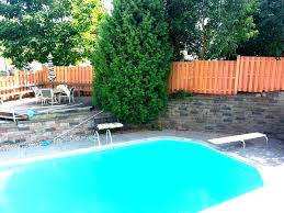 pool privacy ideas above ground fence alternating cedar