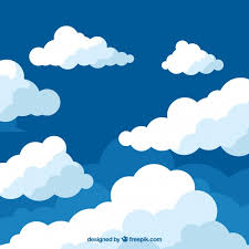Clouds Design Clouds Background In Flat Design Vector Free Download