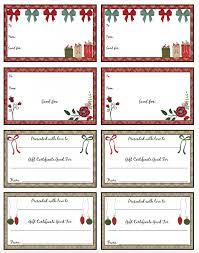Printable Christmas Certificates Printable Christmas Certificates Picture Template Online Gift