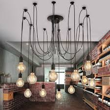 adjustable pendant lighting. Vintage Multiple Adjustable Wire DIY Ceiling Spider Pendant Lighting 12/14 Heads With E27 Lamp A