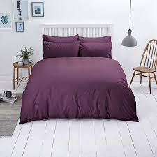close image for sainsbury s plain bedlinen purple from sainsbury s