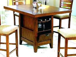 counter height kitchen table with storage wine storage table counter height table with storage bar storage