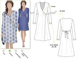 Wrap Dress Sewing Pattern Interesting Kate Dress Style Arc
