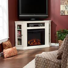 tv stand electric fireplace entertainment center a console 52 corner white