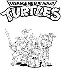 Small Picture Printable Teenage Mutant Ninja Turtles Coloring Pages Picture